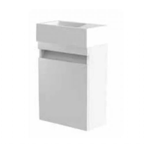 Kartell Ikon Wall Mounted Cloakroom Vanity Unit - 400mm - White - Right Handed